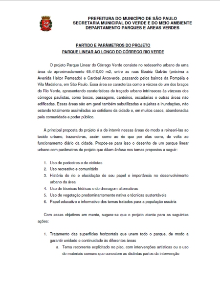 PARTIDO E PAR¦METROS DE PROJETO